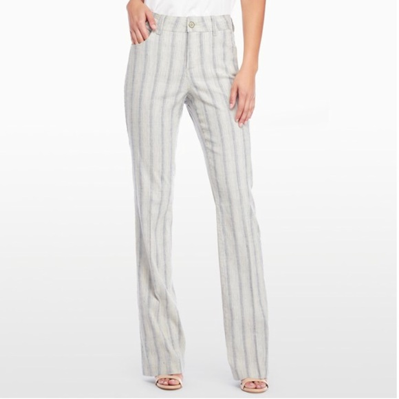 376aabe4ac3 NYDJ Wylie Trouser In Striped Linen NWT. M 5a35929e331627236b01f3eb